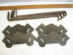 Set 4 Bower Lebanon Pa Cast Iron Snow Bird Stops With Rods Architectural Roof
