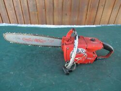 Vintage Homelite Xl-1 Chainsaw Chain Saw With 16 Bar Red