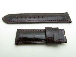 Burgundy Red Croc Strap 24mm/22mm Tang Buckle Only 125mm/75mm For 44mm