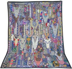 Dorm Decor Tapestry Indian Handmade Patchwork Patchwork Cotton Table Cover