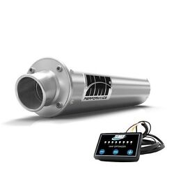 Hmf Performance Slip On Exhaust Brushed + Efi Optimizer Grizzly 700 2014- 2015