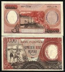 Indonesia 10000 10000 Rupiah P-99 1964 Replacement Water Buffalo Rare Currency