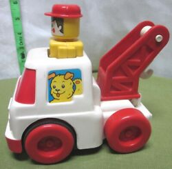 Unimax Vtg Tow-truck W/ Lift Hook 1980 Toy Push-and-go Wrecker Toddler Vehicle