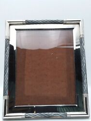 Vintage Silver Plated And Steel Cable Photo Frame By Plata Lappas Argentina