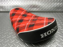 Honda Motorcycle Custom Parts Monkey Low Down Tack Roll Seat Red/black Check New