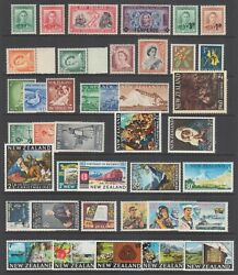 New Zealand Sc 226/420 Mnh. 1938-1969 Sets And Singles 40 Different Stamps F-vf