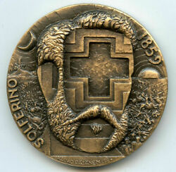 1859 Battle Of Solferino / The Creation Of The Red Cross Art Medal By Rasanen