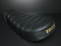 Honda Motorcycle Custom Parts Monkey Low Down Tack Roll Seat Black Leather New