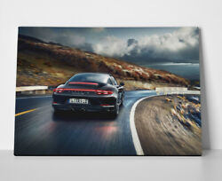 Porsche 911 Black Poster or Canvas