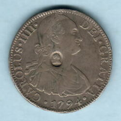 Great Britain Geo 111 - Emergency Issue 1. Countermark On Mexico 1794 8 Reales