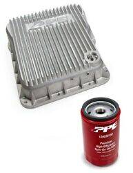 Ppe Raw Transmission Pan And Spin On Filter For 2001-2019 Chevy/gmc 6.6l Duramax
