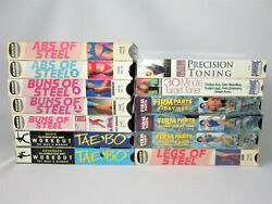 13 Vhs Exercise Tapes Buns Legs Abs Of Steel Tae Bo Billy Banks The Firm