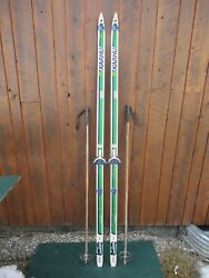 Great Ready To Use Cross Country 79 Karhu 205 Cm Skis + Poles