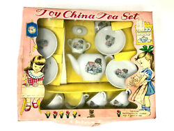 Sonsco Toy China Tea Set, Vintage 1950's, 4 Place Settings.