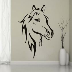 Horse Head Wall Sticker Home Decor Living Room Bedroom Horse Animal Wall Decals