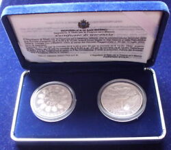 San Marino - Silver 5 And 10 Andeuro Set Welcome Euro 2002 Kmps15 - Edelweiss Coins