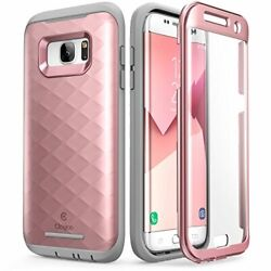 Galaxy S7 Edge Case Clayco [hera Series] Full-body Rugged Case With Rosegold