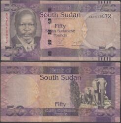 South Sudan - 50 Pounds Nd 2011 P 9 Africa Banknote - Edelweiss Coins .