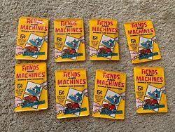 Fiends And Machines Bubble Gum Stickers By Donruss