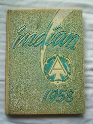 1958 Anderson High School Yearbook Anderson, Indiana  Indian