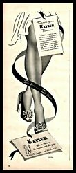 1943 Wwii Kayser Rayon Seamed Stocking Hosiery Wartime Ad
