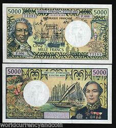 French Pacific Territories 5000 Francs P3 A 1996 Ship Unc Rare Sign Money Note