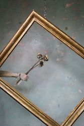 17th Century Italian Sqrafitto Moulded Giltwood Picture Frame Antique