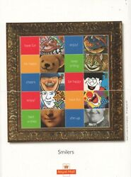 Gb 2001 Smilers Smiles Labels Greetings Sgls5 Sheet Stamps Mint Mnh