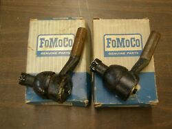 Nos Oem Ford 1961 Galaxie 500 Power Steering Outer Tie Rod Ends