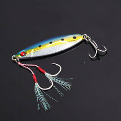 5x15-40g Metal Jigs Slow Lures Lead Alloy Tuna King Snapper Baits 5 Colors New