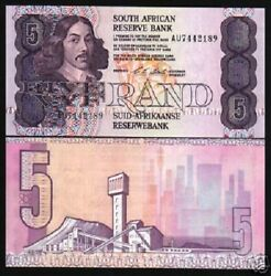 South Africa 5 Rand P119 E 1990 Lot Diamond Grain Unc Currency Money 10 Banknote