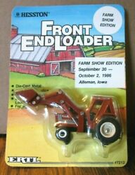 Ertl 1/64 Agco Hesston 100-90 Tractor Front End Loader Toy 1986 Show Edition Ia