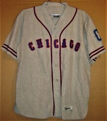 Chicago Cubs Ernie Banks 14 Gray Button-down Size Xl Jersey