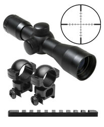 Combo Kit For Ruger 10/22 Rifles Includes 4x30 Compact Scope + Rings + Mount