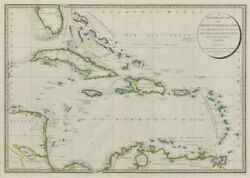 A General Chart Of The West India Islands… Delarochette/faden Caribbean 1796 Map