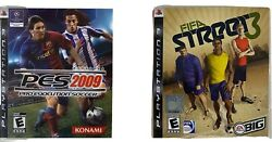 Fifa Street 3 Pes Pro Evolution Soccer Ps3 Complete With Manuals