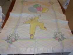 Vintage Satin Nylon Baby Blanket Lovey Cabbage Patch Kids Cpk Soft Security