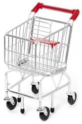 Melissa & Doug Metal Shopping Trolley Cart Toy Gift Play Food Toddler Child New