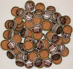 Soda Pop Bottle Caps Lot Of 100 Sun Rise Root Beer 1 Cork Lined New Old Stock