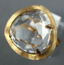 Large 9.23ct Aaa White Clear Quartz 14kt Rose Gold Trillion Cut Solitaire Ring