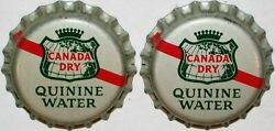 Soda Pop Bottle Caps Canada Dry Quinine Lot Of 2 Cork Lined Unused New Old Stock