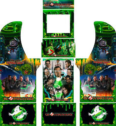 Arcade1up Cabinet Riser Graphics - Ghostbusters Graphic Wrap Sticker Decal Set