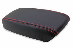 Leather Synthetic Console Armrest Cover Fits Acura Integra 94-01 Red Stitch