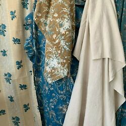 Upholstery / Pillow Project Pack Blue Floral Antique Fabric Sewing Project