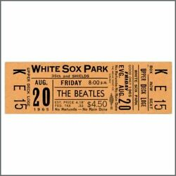 The Beatles 1965 White Sox Park Chicago Ticket Usa