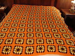 Handcrafted Granny Square Crochet Afghan Throw Blanket Future Heirloom