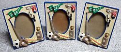 Lot Of 3 Kids Sports Theme Picture Frames