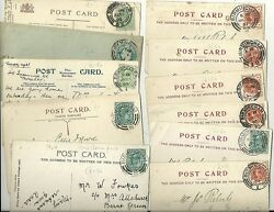1897/1905 11 Birmingham Numbered Postmarks On P/cs Iron Works And Ppcs Most Diff