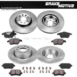 Front And Rear Brake Rotors And Ceramic Pads For Audi A3 Gti Vw Jetta Passat