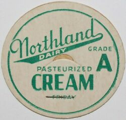 Vintage Milk Bottle Cap Northland Dairy Pasteurized Cream For Friday St Louis Mo